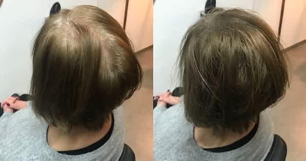hairfibers voor na haar dikker maken haarvezels