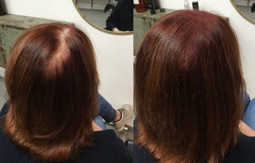 hairfibers voor na haarvezels voller haar maken
